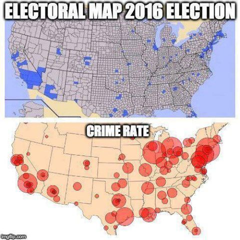 Population densityelectoral map Vs Crime Rate Map US Message