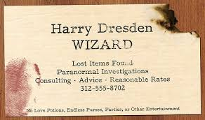 1-2-10 Harry Dresden Business Card | Dresden files, Dresden, Book worth  reading