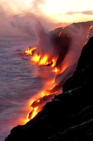 Active lava flows touching the ocean in Hawaii..jpg