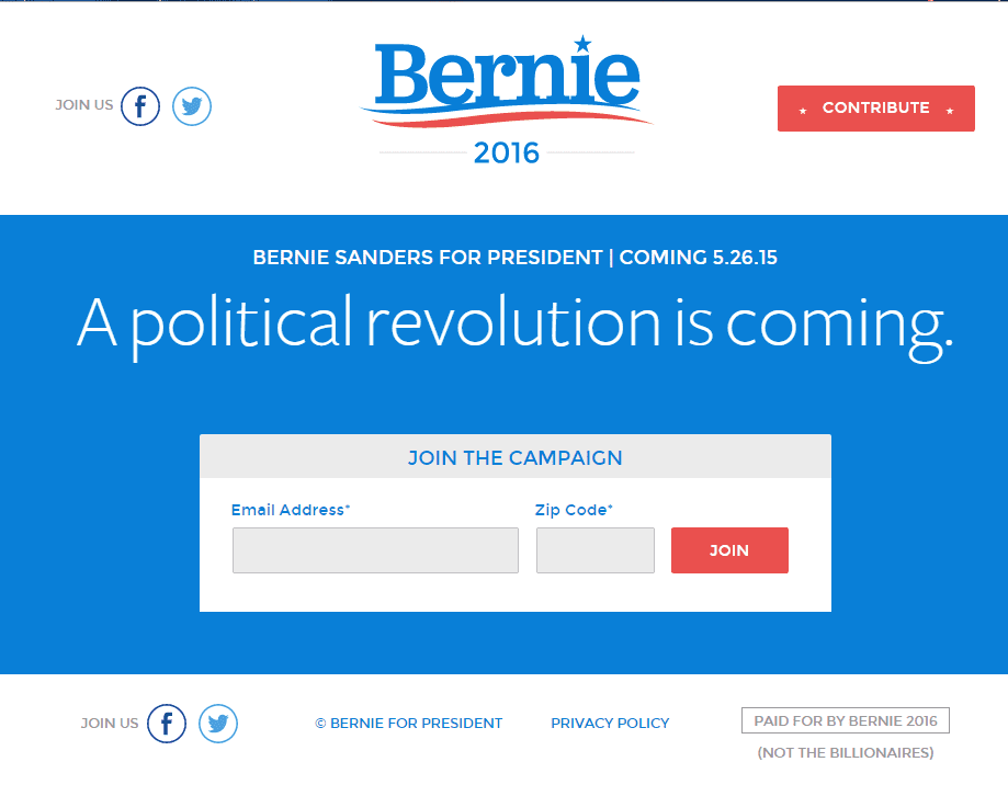 Bernie Sanders website.png