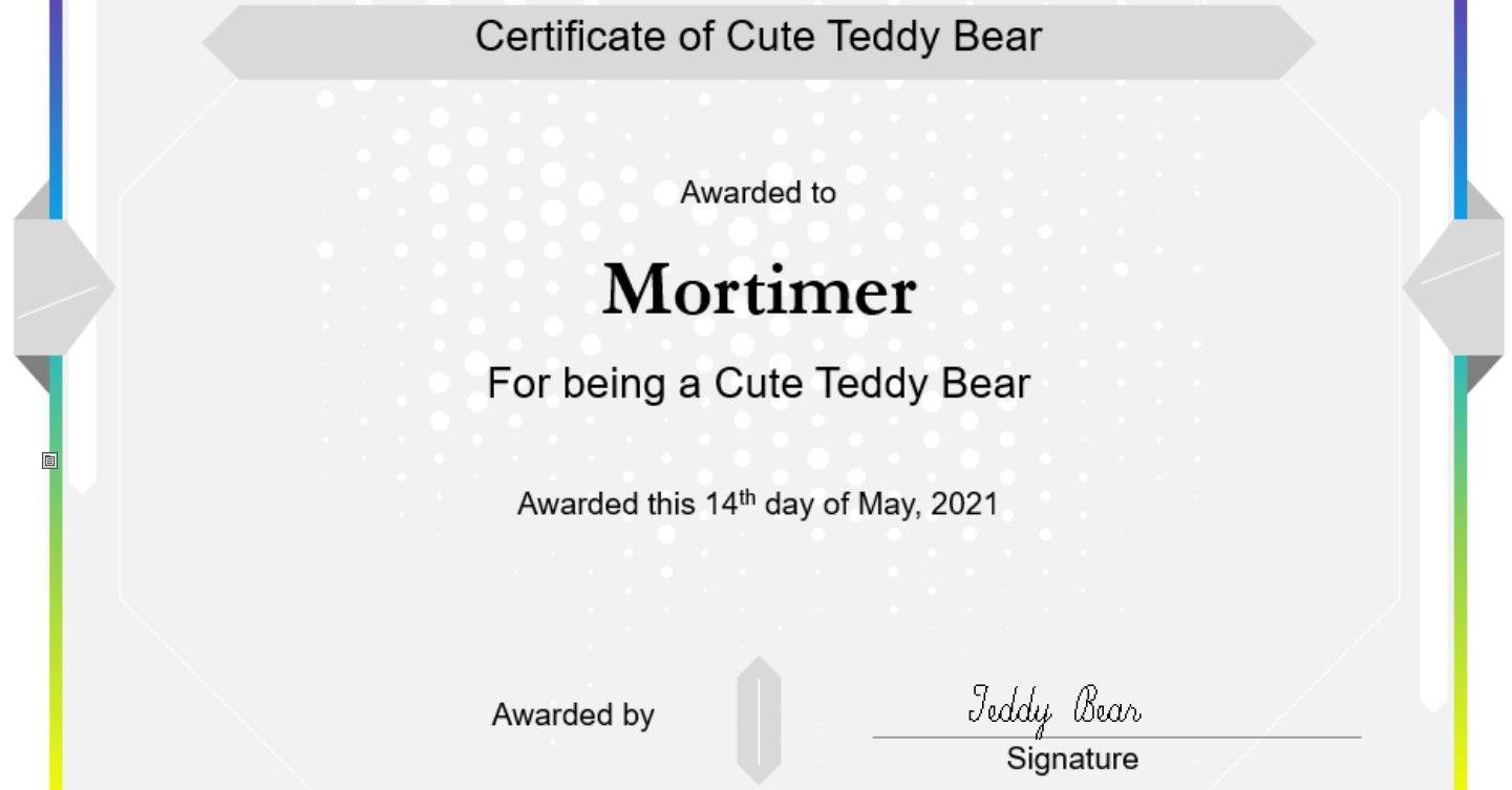 Cert of Cute Teddy .jpg