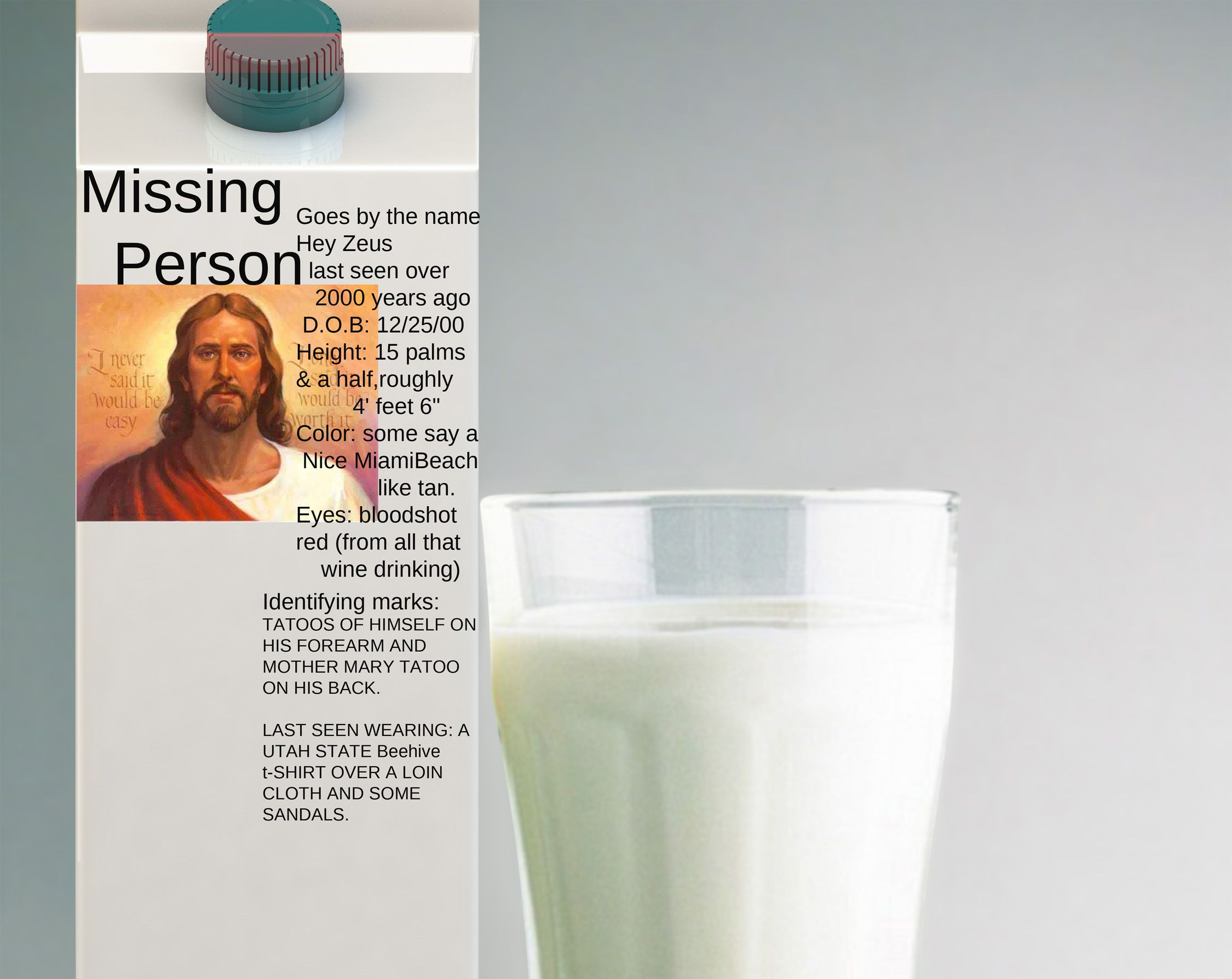 Hodgeman's Thoughts on The Great Outdoors: About that Milk ... |Missing Person Milk