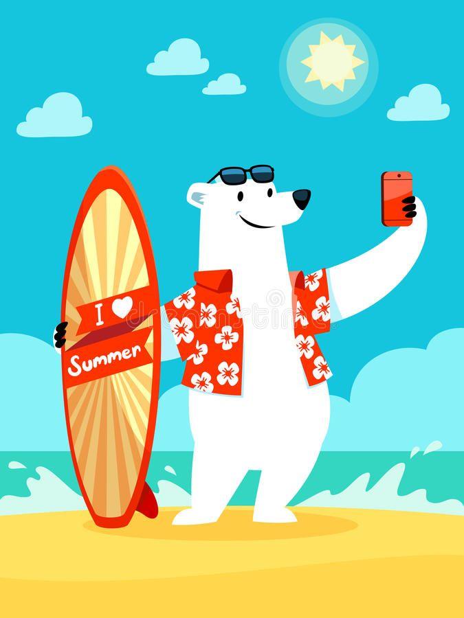 polar-bear-take-selfie-beach-illustration-i-love-summer-surfboard-taking-55293407.jpg