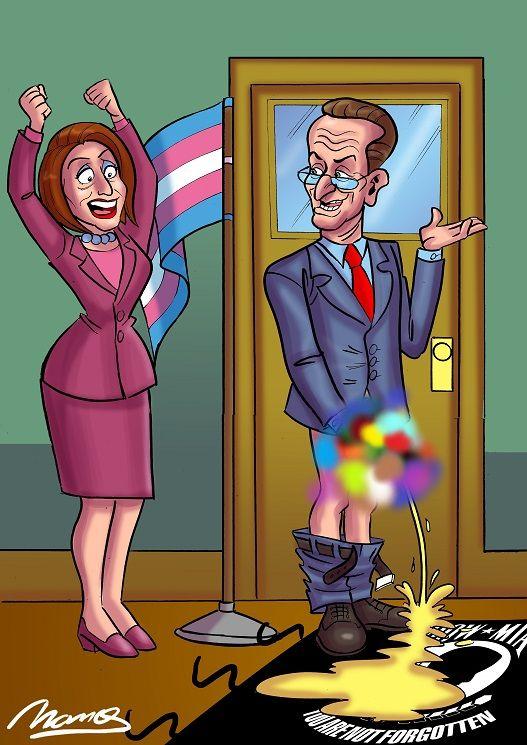 Schumer & Pelosi flags censored lr.jpg