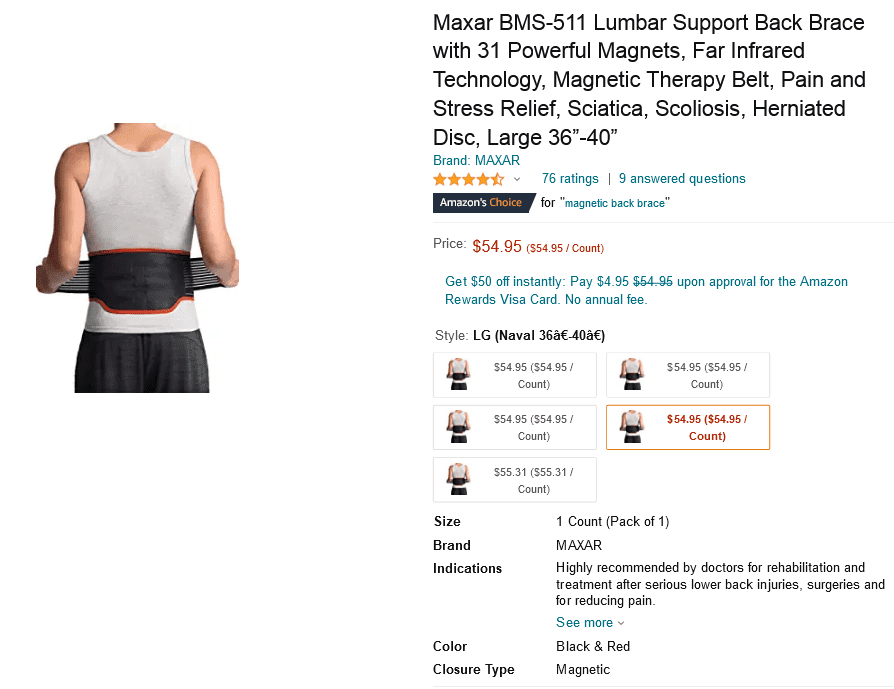 Screenshot_2021-03-07 Amazon com Maxar BMS-511 Lumbar Support Back Brace with 31 Powerful Magn...png