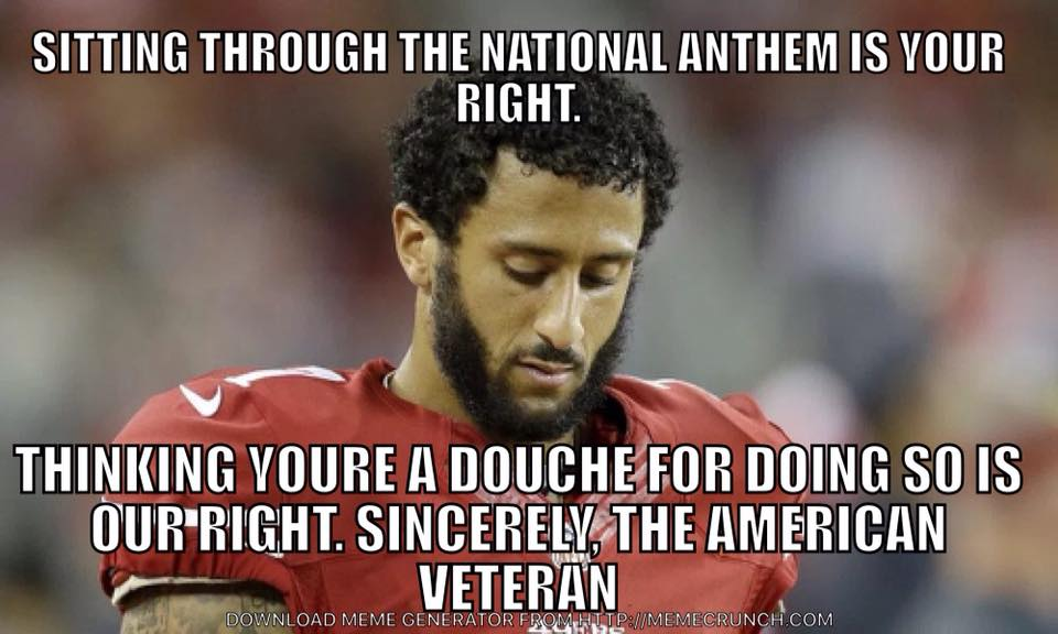 colin kaepernick 49er qb refuses to stand for the national anthem