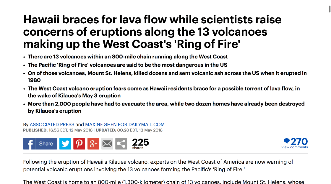 Friday Follow Along_13 >> Hawaii Braces For Lava Flow While Scientist Raise Concerns Of