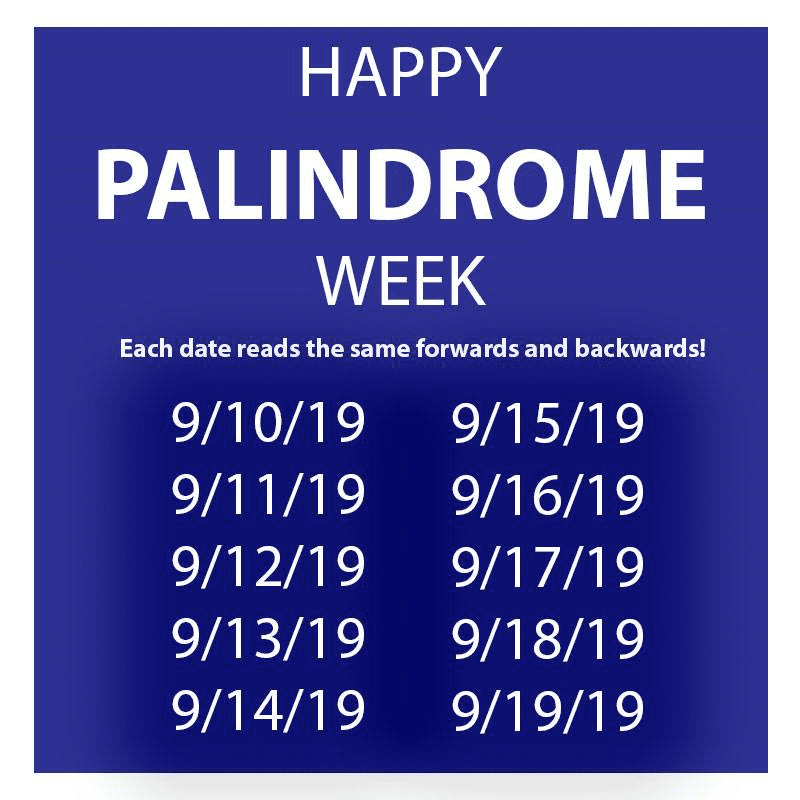 Happy Palindrome Week Us Message Board Political Discussion Forum